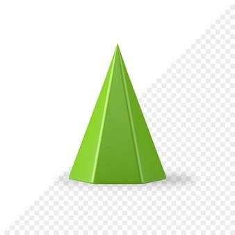 Cono geometrico realistico dell'albero di abete verde 3d render