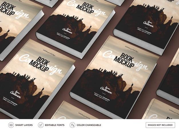 Realistico libro a copertina rigida mockup design