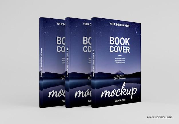 Design realistico del mockup del libro con copertina rigida
