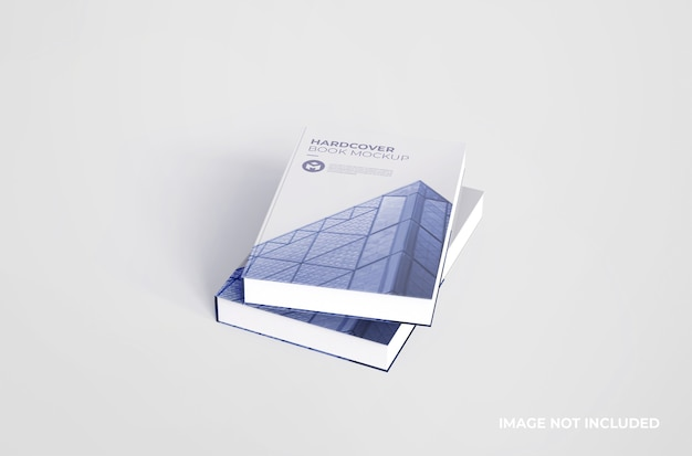 Mockup di libro con copertina rigida realistico