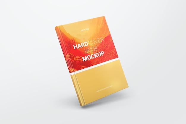 Mockup di libro con copertina rigida realistica