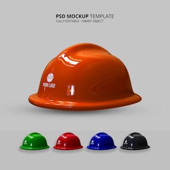Rendering realistico del mockup del casco