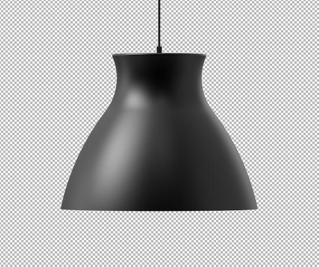 Rendering 3d isolato realistico della lampada da soffitto
