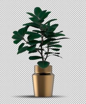 Rendering realistico della pianta in vaso isolata