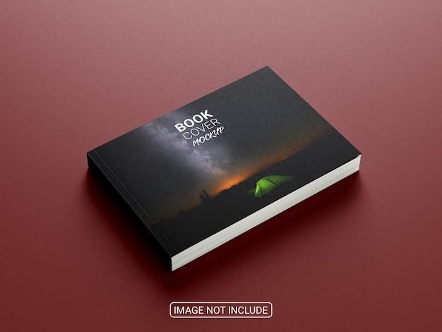 Mockup di libro di paesaggio realistico