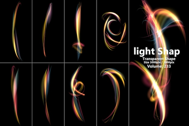 Composizione di effetti di luce realistici