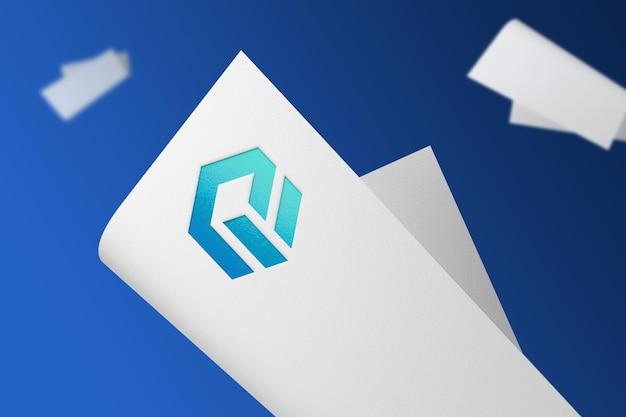 Mockup logo realistico su carta