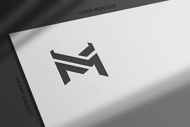 Mockup logo realistico con carta bianca-8