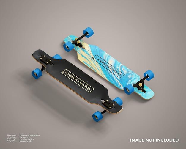 Mockup di longboard realistico