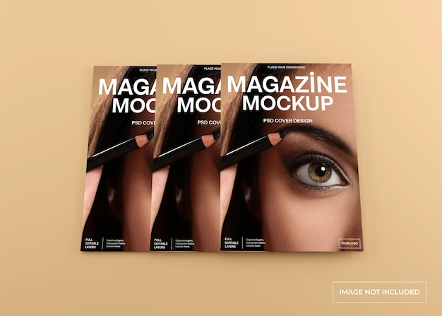 Mockup di copertina di una rivista realistico isolato