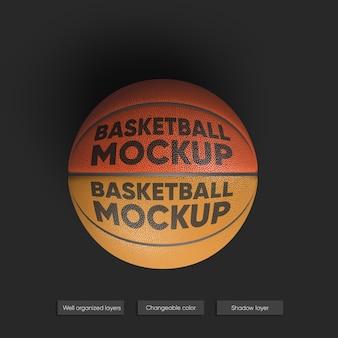 Mockup realistico della palla da basket isolato