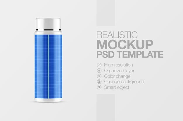 Cosmetici per bottiglie di plastica mockup realistico