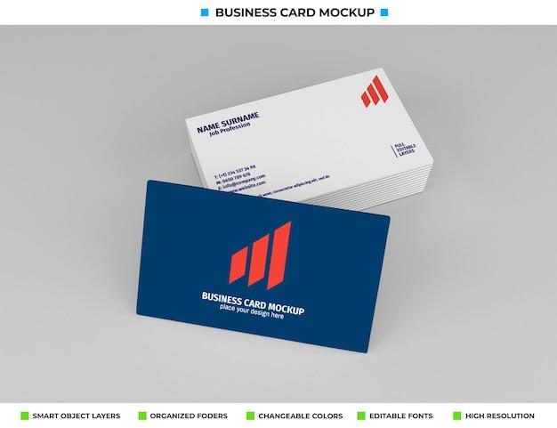 Design realistico di mockup di biglietti da visita in carta