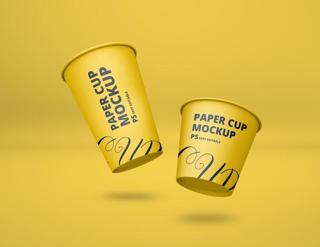Mockup di tazza di caffè di carta realistico