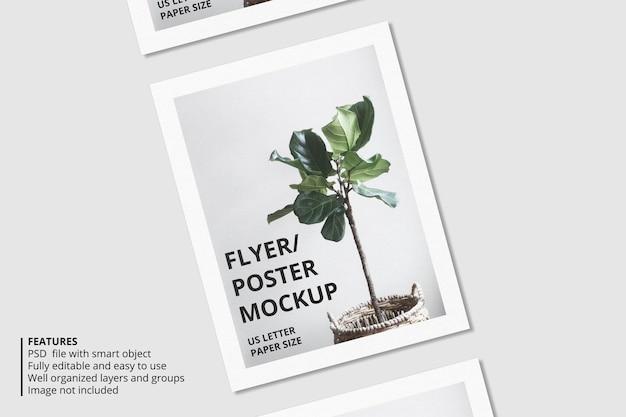 Design realistico di mockup di brochure in carta o volantino