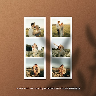 Mockup di foto con cornice di carta realistica