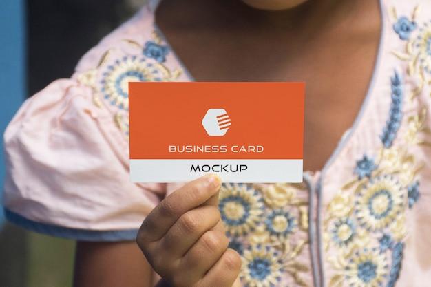 Mockup biglietto da visita foto realistiche
