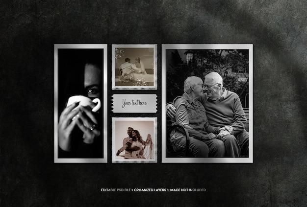 Cornice fotografica realistica con bei ricordi