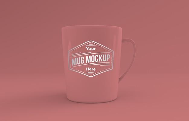 Tazza rosa realistica mockup 3d rendering isolato