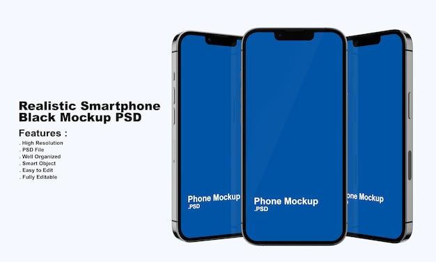 Mockup di smartphone nero premium realistico