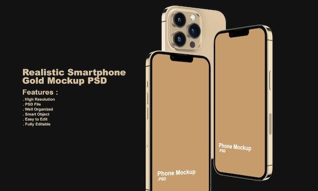 Mockup di smartphone premium realistico