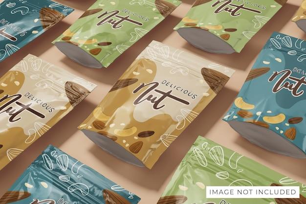 Design realistico del mockup del packaging del prodotto