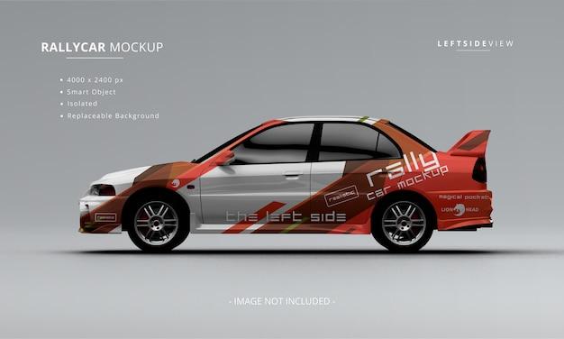 Auto da rally realistica mock up vista laterale sinistra