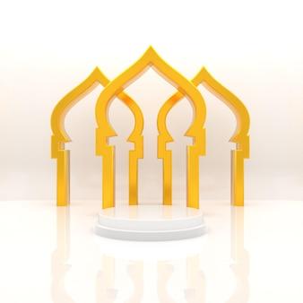 Realistico ramadan kareem rendering realistico