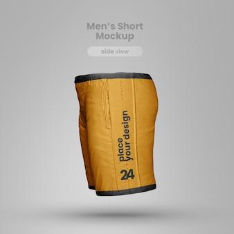 Vista laterale realistica del mockup corto
