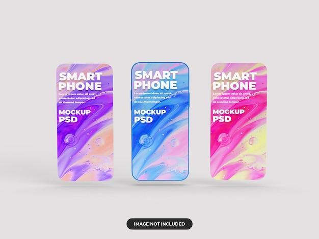 Realistico mockup di smartphone minimalista per la presentazione del design e la pubblicità dell'interfaccia utente