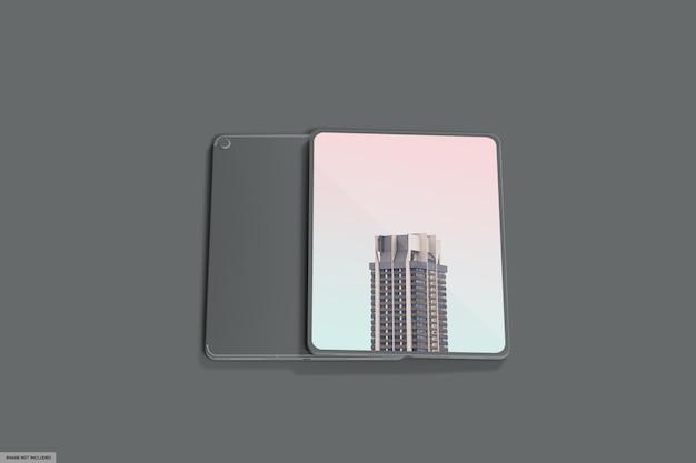 Mockup di tablet intelligente realistico con luce scura