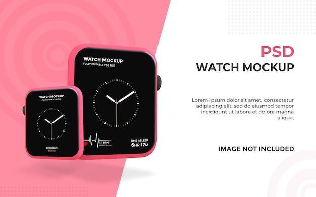 Mockup di orologio intelligente realistico