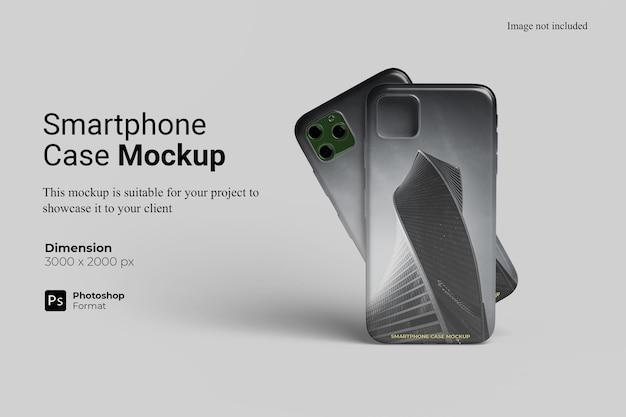 Realistico smartphone case mockup design