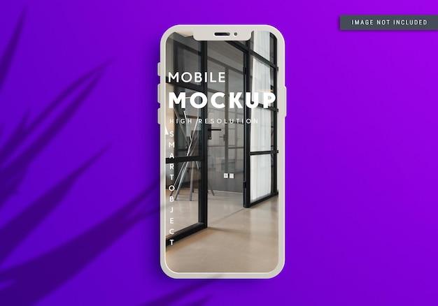 Design realistico del mockup dello smartphone