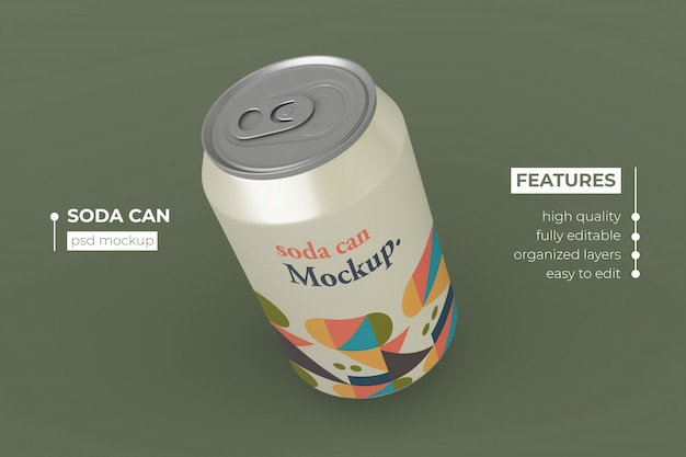 Realistico design di modelli di lattine di soda