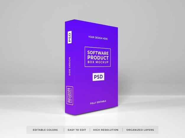 Mockup di prodotto scatola software realistico