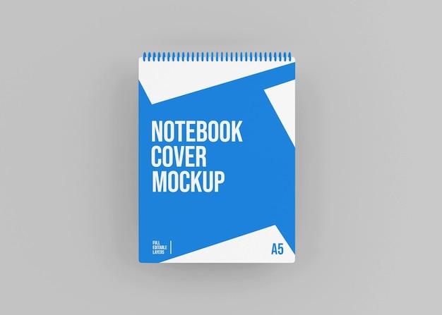 Mockup di quaderno con copertina rigida a spirale realistico
