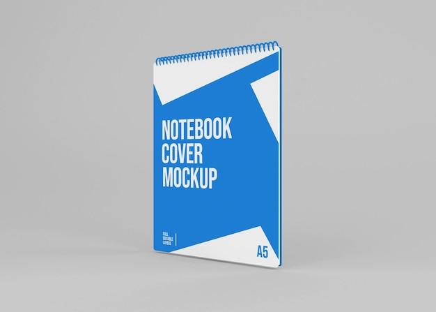 Mockup di quaderno con copertina rigida a spirale realistico Psd Premium
