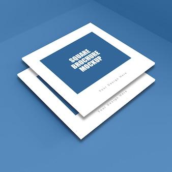 Modello di brochure quadrato realistico