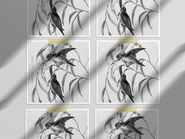Mockup di cornici quadrate realistiche