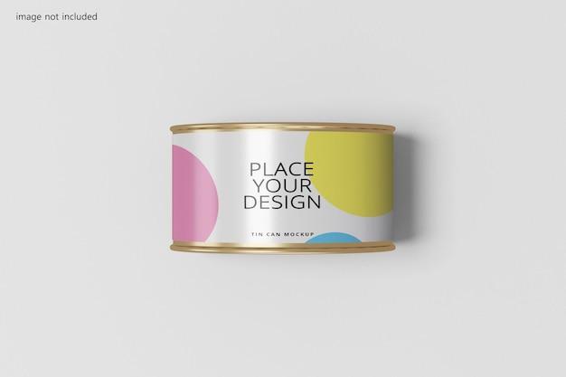 Design realistico di latta di latta