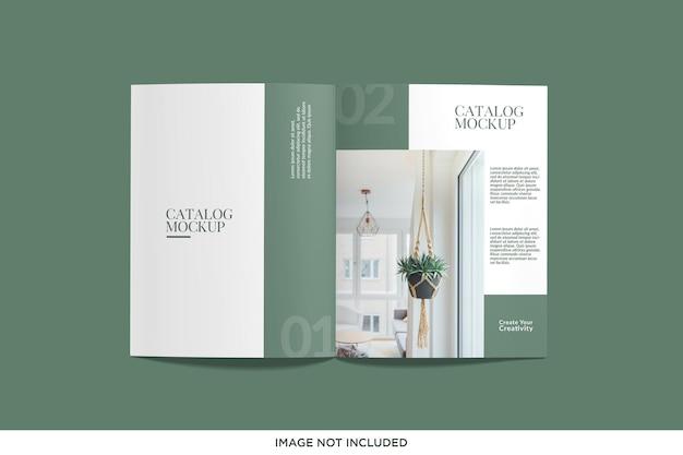 Mockup di rivista o catalogo realistico con vista dall'alto
