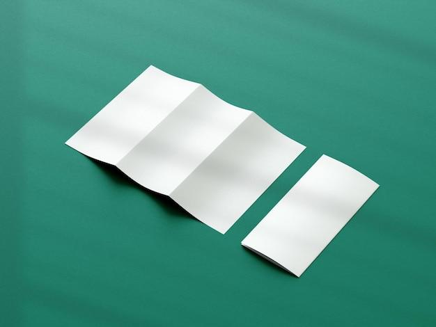 Realistico design mockup brochure pieghevole a tre ante