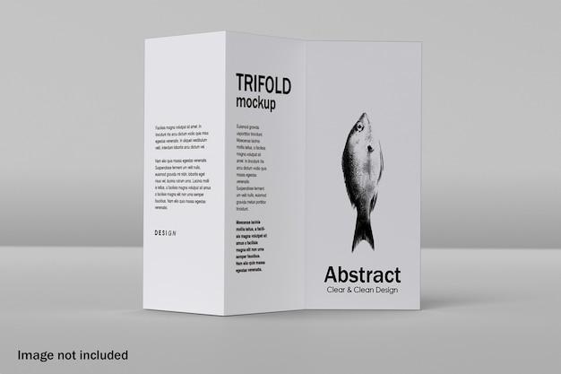 Mockup di brochure a tre ante realistico