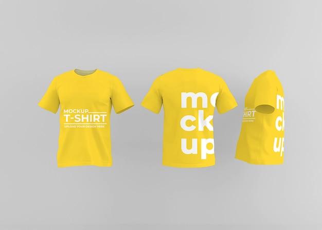 Design realistico del mockup della maglietta per il concetto di moda