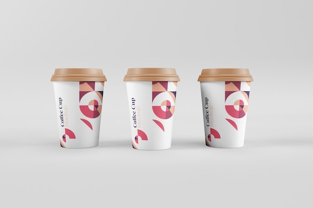 Mockup di tazza di caffè utili ed eleganti realistici