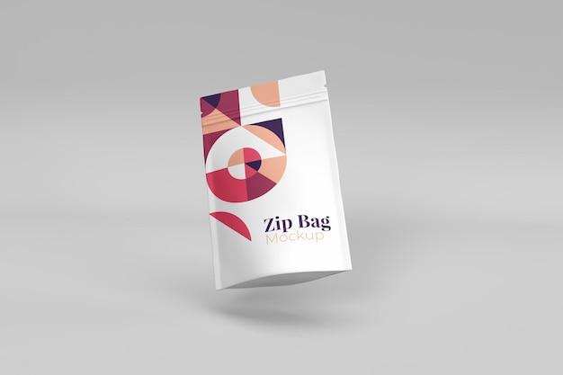 Mockup di borsa con cerniera utili ed eleganti realistici