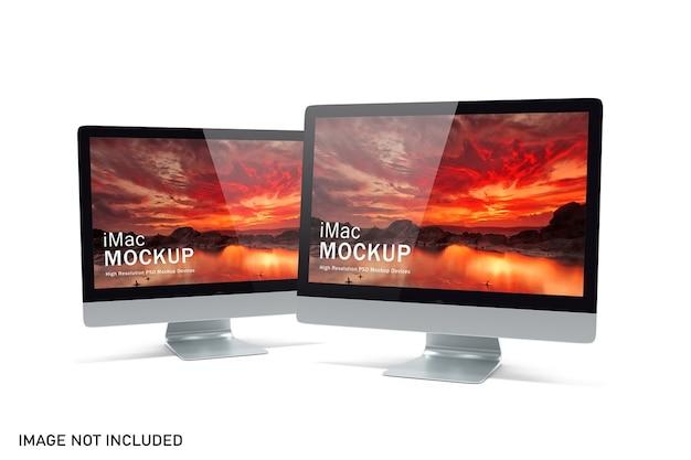 Mockup di computer con vista realistica