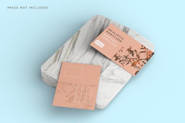 Design realistico di mockup di cartolina vista