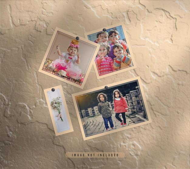 Set di cornici per foto realistiche per montaggio a parete con effetto polvere